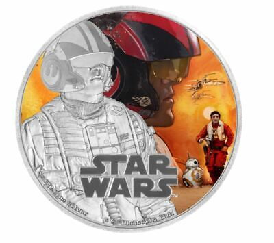 1 oz. Pure Silver Coin Star Wars - Poe Dameron: The Force Awakens (2016)