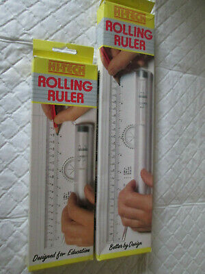 "2 Hi Tech Rolling Rulers (1 x 8"" and 1 12"")"