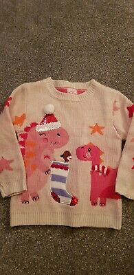 Girls Peppa Pig 2-3 Years Christmas Jumper