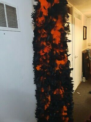 Turkey ruff black and orange feather boa x1 boa 3 available