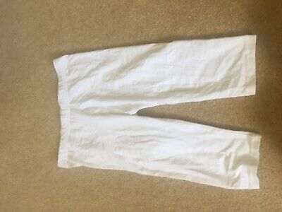 Girls White Cropped Leggings Age 7-8 worn once