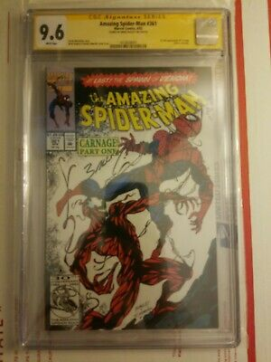 The Amazing Spider-Man #361 (Apr 1992, Marvel) CGC 9.6 SS Mark Bagley signature