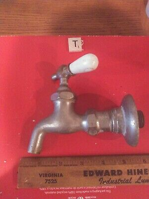 Vint. RARE CITY Faucet  Plumbing Fixture Porcelain Handle Architectrual Punk Art