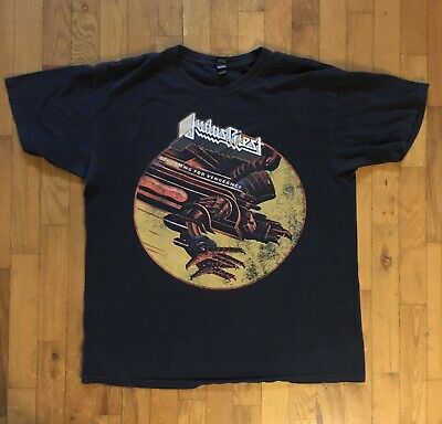 Judas Priest Screaming for Vengeance shirt Size Large Front Logo Print Metal T