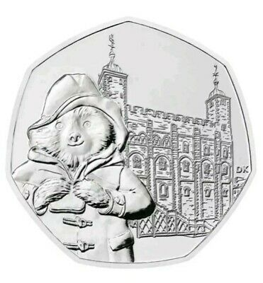 2019 PADDINGTON BEAR AT THE TOWER OF LONDON 50p COIN - UNCIRCULATED