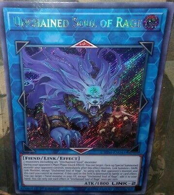 Unchained Soul of Rage CHIM-EN043 secret rare 1st Chaos Impact Yu Gi Oh
