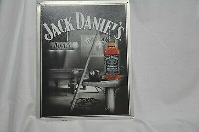 """Tin Sign RETIRED --- ISSUE Rare /""""JACK DANIELS Pool Room/"""" NEW OLD STOCK ---"""
