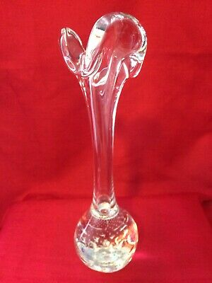 murano vase italian art glass crystal color 1972looks like a new well-preserved