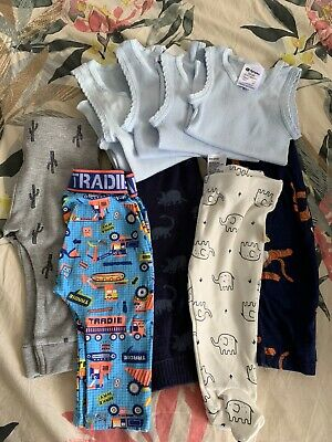 Bulk Baby Boys Leggings 0-3mths And Singlets
