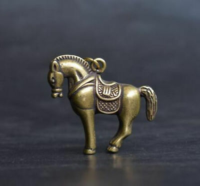 China's archaize pure brass horse small statue