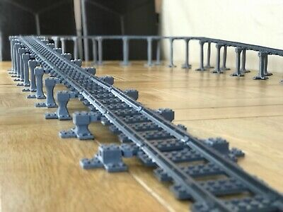 Lego City Compatible Train Set Track Bridge Supports, for Harry Potter  75995,