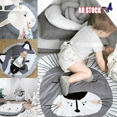Baby Activity Play Mat Newborn Soft Cotton Crawling Blanket Home Floor Rug New