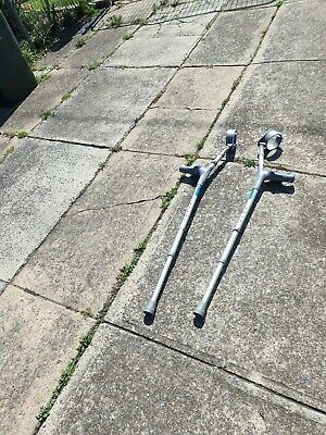 'Canadian' Forearm Crutches with Ergonomic Grip Pair used
