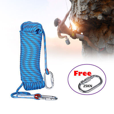 Prettyia 20m High Strength Braided Rope Outdoor Climbing Emergency Rescue