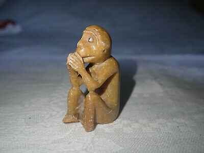 Vintage Chinese Soapstone Monkey Ornament
