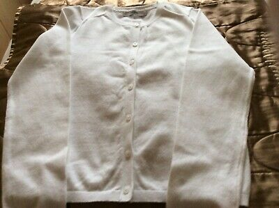 Girls White Cardigan by George age 9/10 years hardly worn