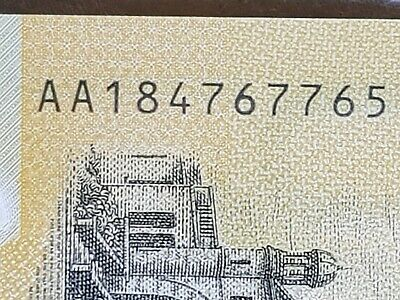 $50  2018 AUD new note with spelling error AA rare first prefix.