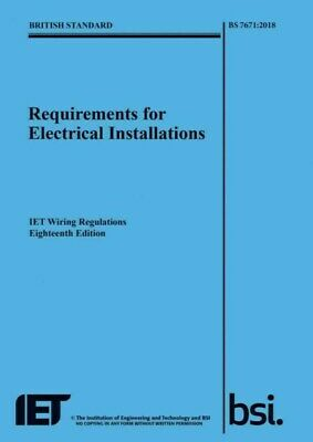 IET 18th Edition Wiring Regulations Book - BS 7671:2018 Electrical Regs