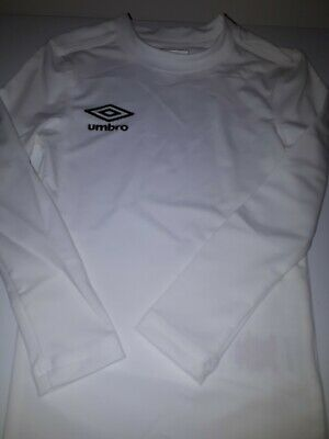 2 X Umbro Boys Girls Base Layer Long Sleeve Top Brand New 637785-02 134cm