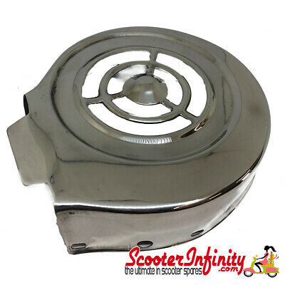Flywheel Cowling/Cover (Stainless Steel) (Lambretta GP - Long Fin Version)