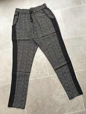 Girls Smart Black Loose Trousers With Elasticated Waist. Age 11 Years From Next.