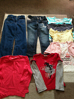 girl's various tops and trousers bundle - age 6-7 years