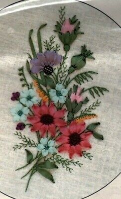Esther's Silk Ribbon Embroidery Design Bouquet by Stephanie Williams