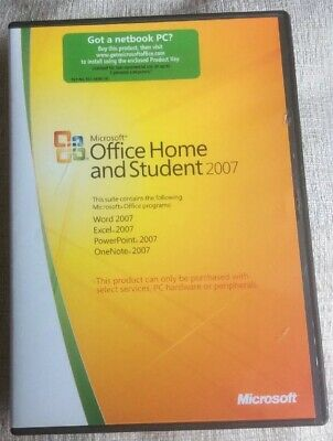 Microsoft Office Home and Student 2007 with Product Key - Great Condition