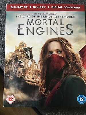 Mortal Engines Blue Ray 3D DVD