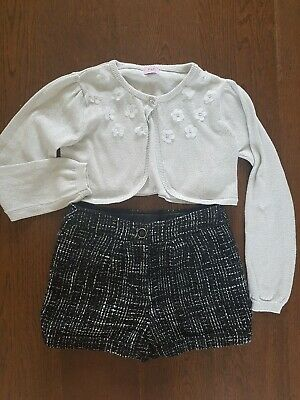 Girls Winter sparkly  Party Shorts Outfit Set 6 - 7