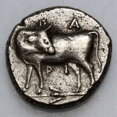 Ancient Greek coin SILVER Parion, Mysia. c 480 BC. Gorgoneion facing