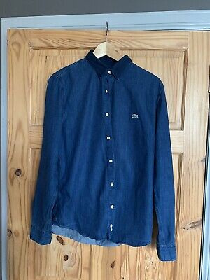 Vintage Brand LACOSTE *LIVE!* Denim Shirt, Immaculate, UK M