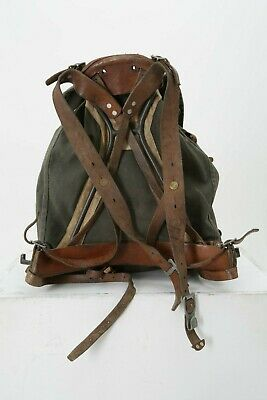 Antique 1940's WWII Swedish Military Army Camping Hiking M39 Canvas Backpack