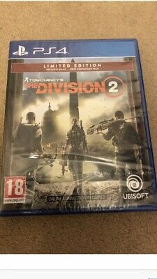 PS4 Tom Clancy's The Division 2 Limited Edition Pack New Sealed Sent Recorded