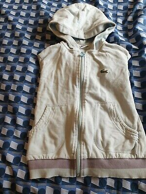 Genuine Lacoste Light Blue Girls Long Sleeved Hoodie Size 8 Age 4-6 RRP £69.99