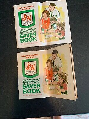 Lot Of 2 S & H Green Stamps Sperry and Hutchinson Stamp Saver Book Unused