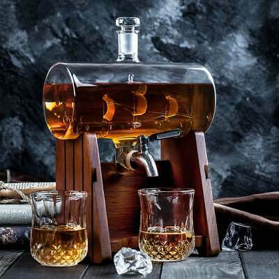 Sailing Ship Whiskey Decanter Set for Scotch, Whisky, Liquor - Bourbon Gifts for