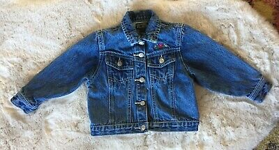 The Childrens Place Girls Sz 24 Mos. Denim Jean Jacket Embroidered