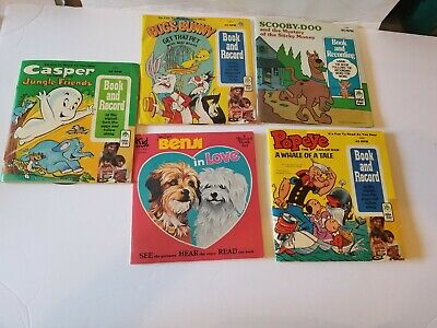 Cartoons books and Records  lot of #5 Variety