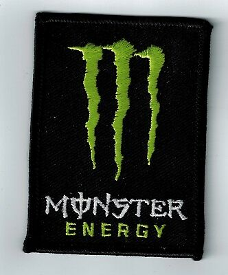 Monster Energy logo patch embroidered Heavy backer Iron on motorcycle drink