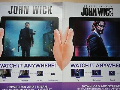 John Wick 1 & 2 Keanu Reeves Download Codes for Google Play