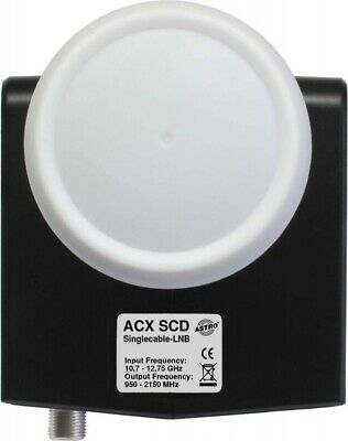 Astro Strobel Unicable-LNB ACX SCD anthrazit Speisesysteme 00310918 Unicable-LNB