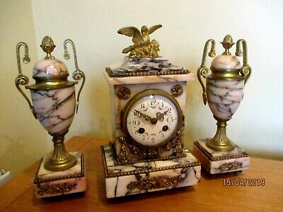 """Superb  French Clcok Garniture by """" S. Marti """" circa 1890s."""
