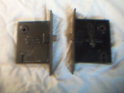 2 Vintage Mortise Sargent & Co Door Hardware.  1880's Patented.Used