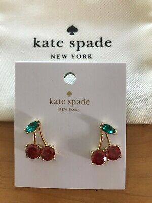 Authentic Kate Spade New York Ma Cherie Mini Cherry Studs Earrings Gift Bag Nwt