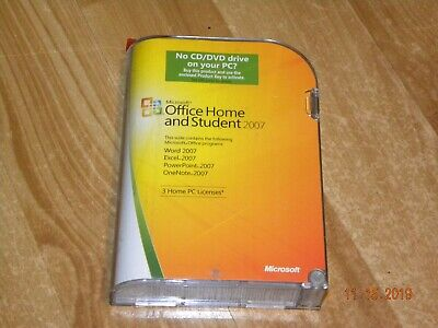 Microsoft Office Home and Student 2007 (3-User) with product key