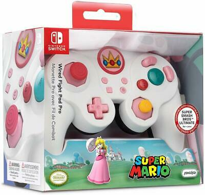 PDP SUPER MARIO Princess Peach Fight Pad Pro Wired Controller Nintendo Switch