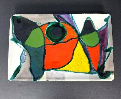 Fred Henze Ceramic Tray Abstract Mid Century Modern MCM Vintage Emil Frei