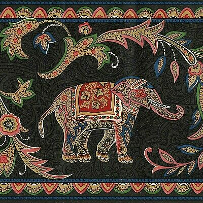 INDIAN ELEPHANT MONKEY SILVER LASER CUT WALLBORDER PAPER 83B57406