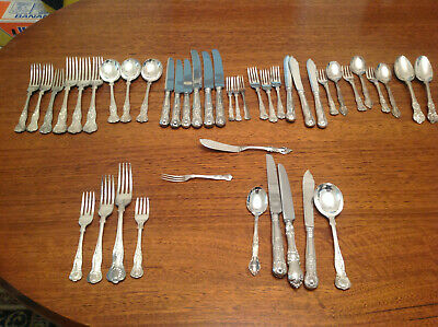Silver cutlery set Kings pattern for 4 people 43 pieces
